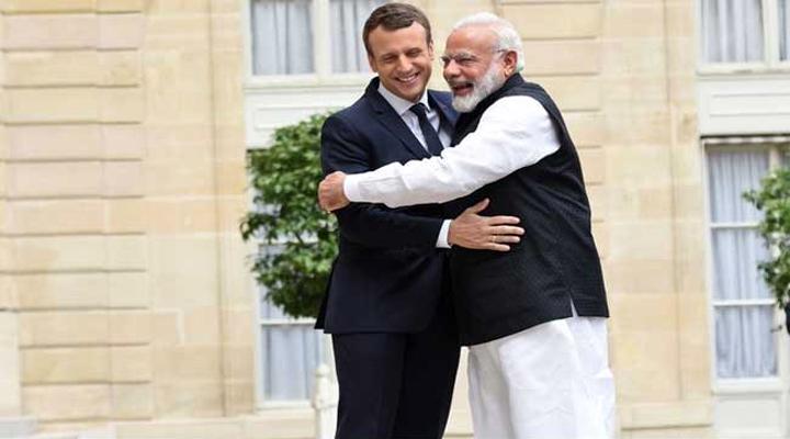 PM Modi, French President Emmanuel