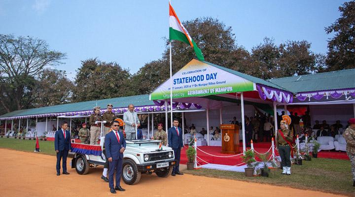 N Biren Singh, Manipur Statehood Day