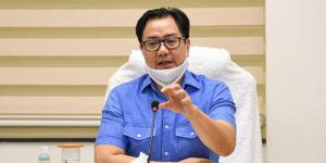 kiren rijiju, union sports minister